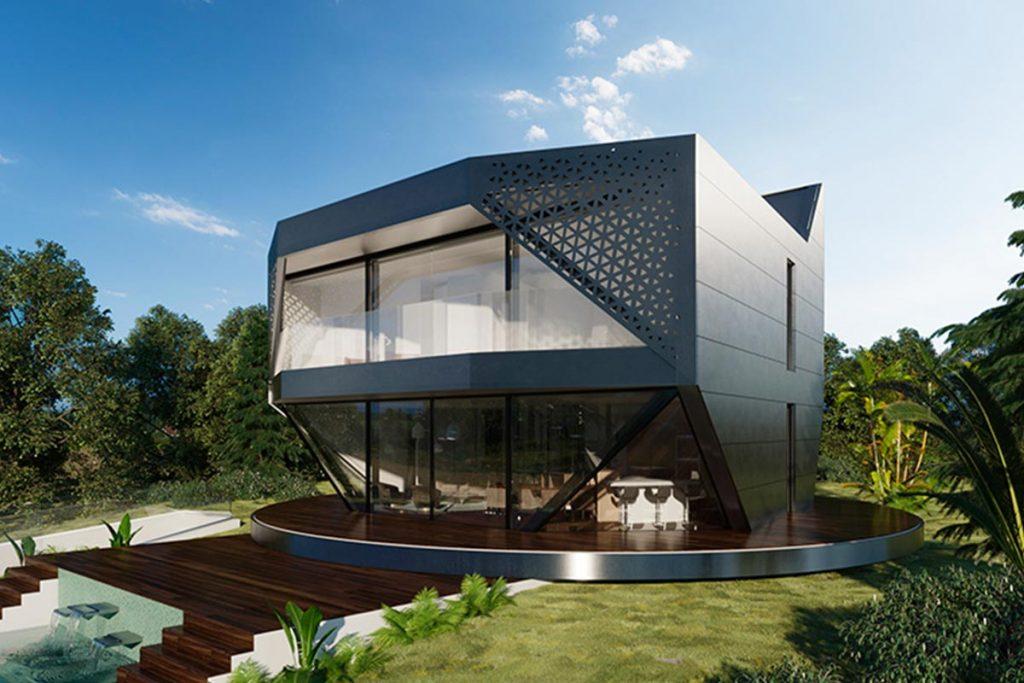 Casa giratoria de la empresa Sun House 360ª